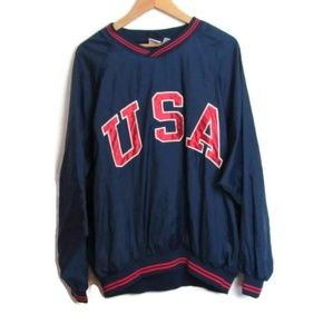 Vintage USA Pullover windbreaker Size Large